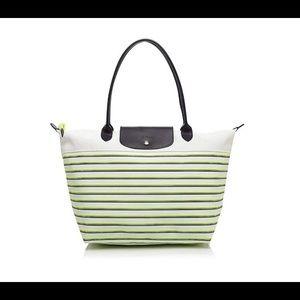 Longchamp Mariniere Large striped tote bag